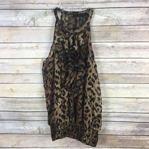 The Limited Small Brown Cheetah Tank Top